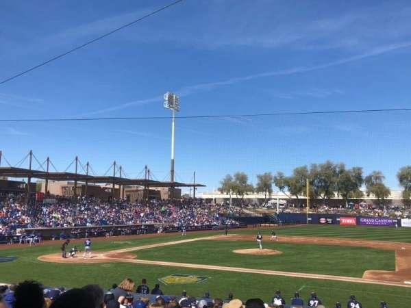Maryvale Baseball Park, vak: 109, rij: V, stoel: 6