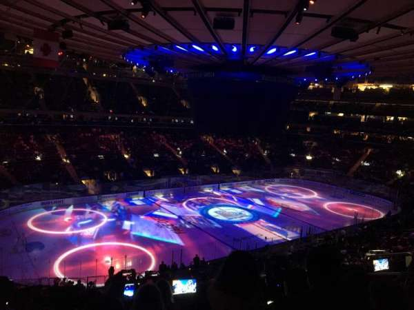 Madison Square Garden, vak: 208, rij: 7, stoel: 10