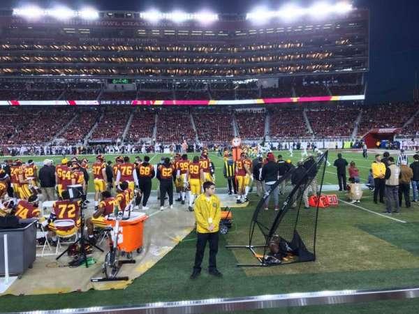 Levi's Stadium, vak: C113, rij: 1W, stoel: 7