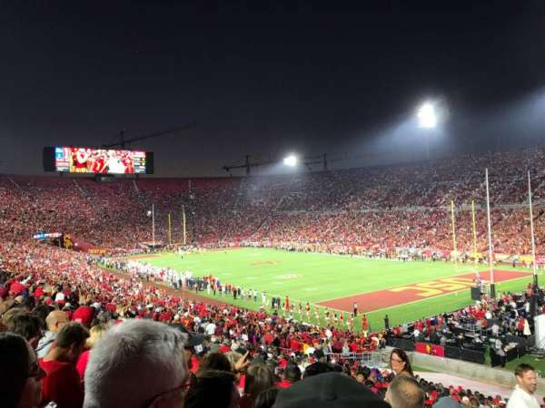 Los Angeles Memorial Coliseum, vak: 102, rij: 43, stoel: 1