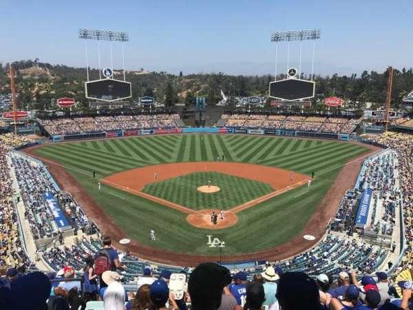 Dodger Stadium, vak: 1RS, rij: L, stoel: 17