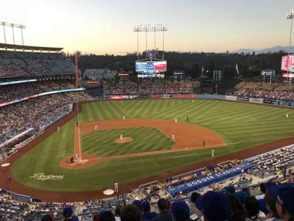 Dodger Stadium, vak: 8RS, rij: G, stoel: 10