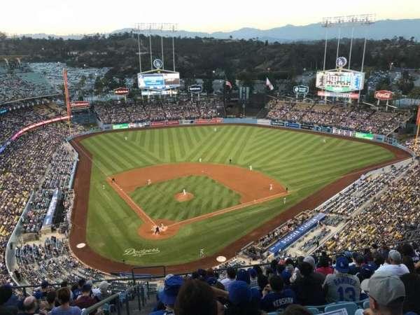 Dodger Stadium, vak: 6TD, rij: N, stoel: 1