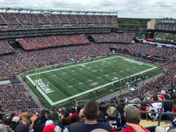Gillette Stadium, vak: 338, rij: 21, stoel: 5