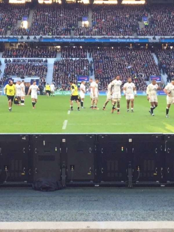 Twickenham Stadium, vak: L24, rij: 3, stoel: 184