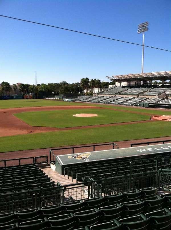 Ed Smith Stadium, vak: 219, rij: 7, stoel: 12