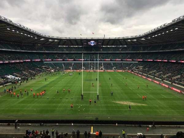 Twickenham Stadium, vak: M45, rij: 59, stoel: 196