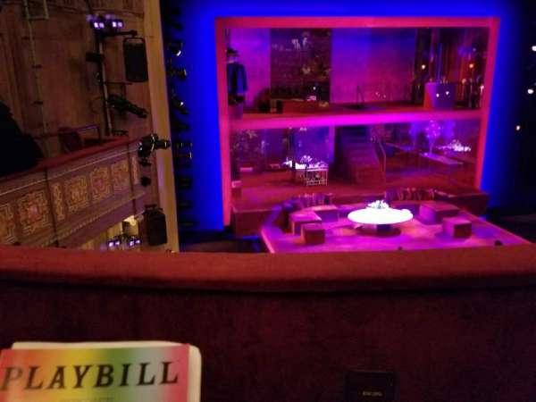 Booth Theatre, vak: Left Mezzanine, rij: B, stoel: 3