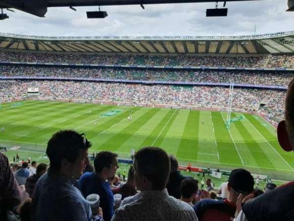 Twickenham Stadium, vak: M4, rij: 69, stoel: 91