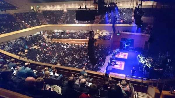 Glasgow Royal Concert Hall, vak: E - Upper, rij: F, stoel: 2