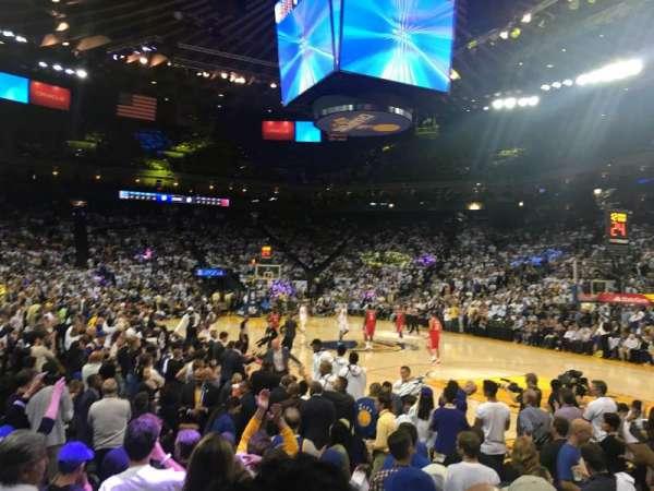 Oracle Arena, vak: 124, rij: 4, stoel: 10