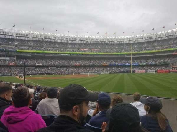 Yankee Stadium, vak: 109, rij: 7, stoel: 1