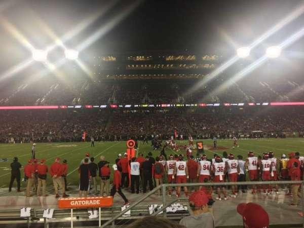 Stanford Stadium, vak: 134, rij: D, stoel: 3