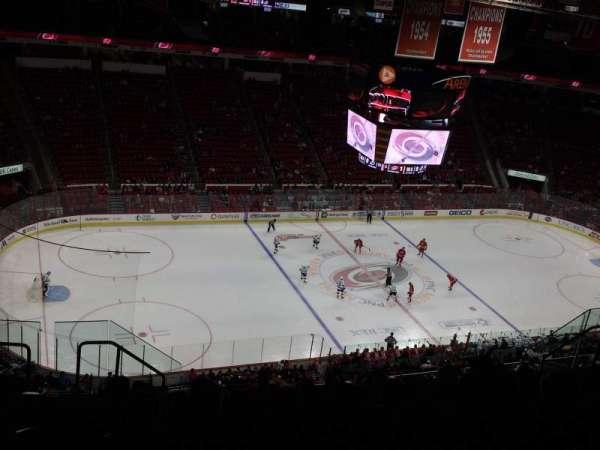 PNC Arena, vak: 308, rij: K, stoel: 16