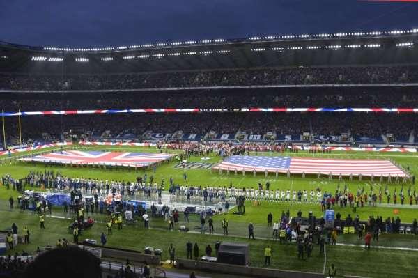 Twickenham Stadium, vak: M5, rij: 52, stoel: 123