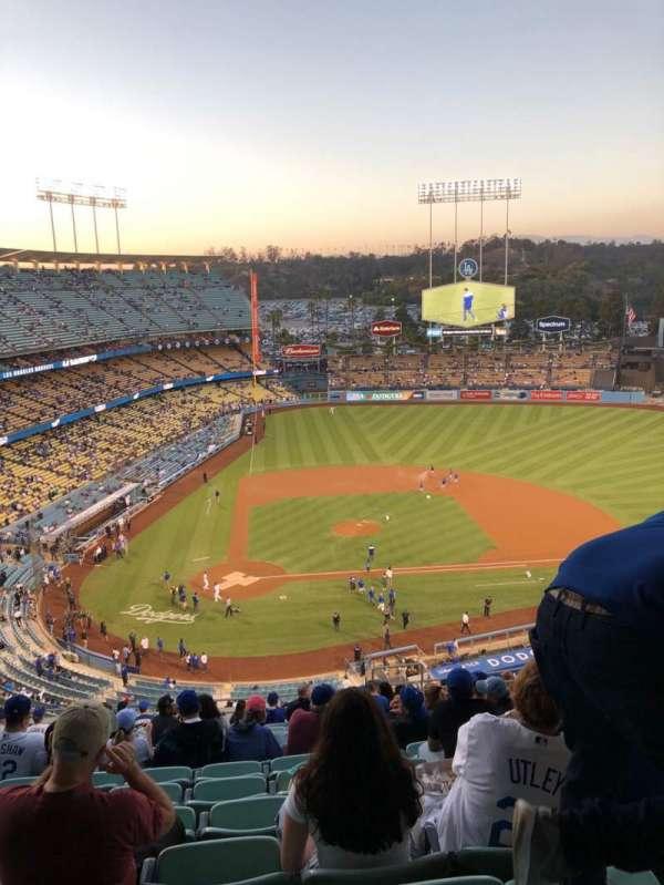 Dodger Stadium, vak: 8RS, rij: S, stoel: 19