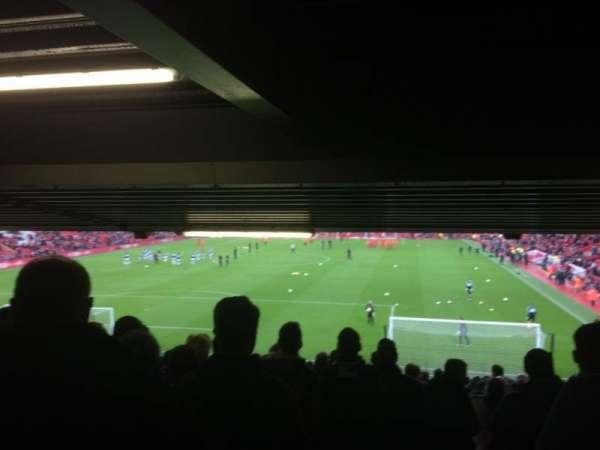 Anfield, vak: Away Lower, rij: 30, stoel: 155