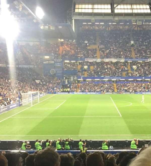 Stamford Bridge , vak: West stand lower, rij: 31, stoel: 190