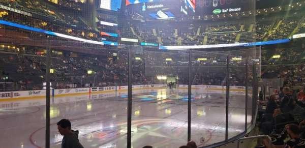 Nationwide Arena, vak: 107, rij: F, stoel: 8