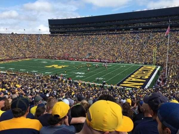 Michigan Stadium, vak: 18, rij: 62, stoel: 7