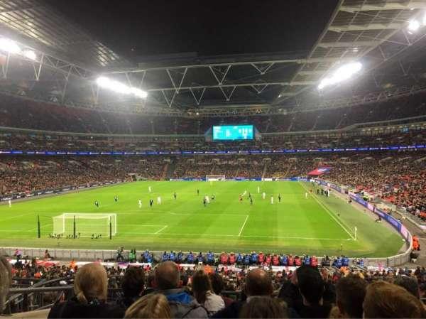 Wembley Stadium, vak: 110, rij: 37, stoel: 219
