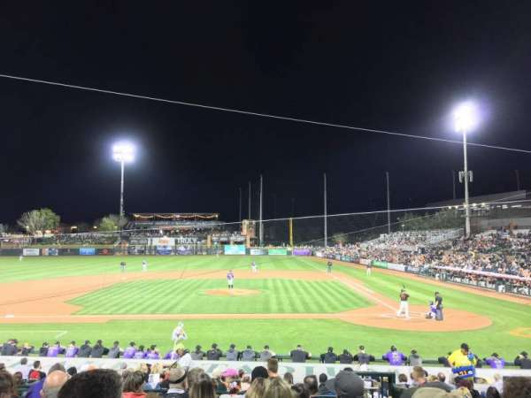 Scottsdale Stadium, vak: 309, rij: 2, stoel: 3