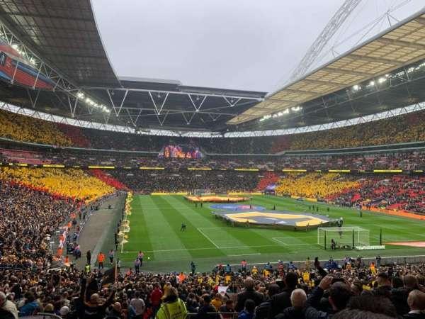 Wembley Stadium, vak: 114, rij: 40, stoel: 68