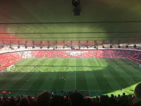 Emirates Stadium, vak: 91, rij: 31, stoel: 1