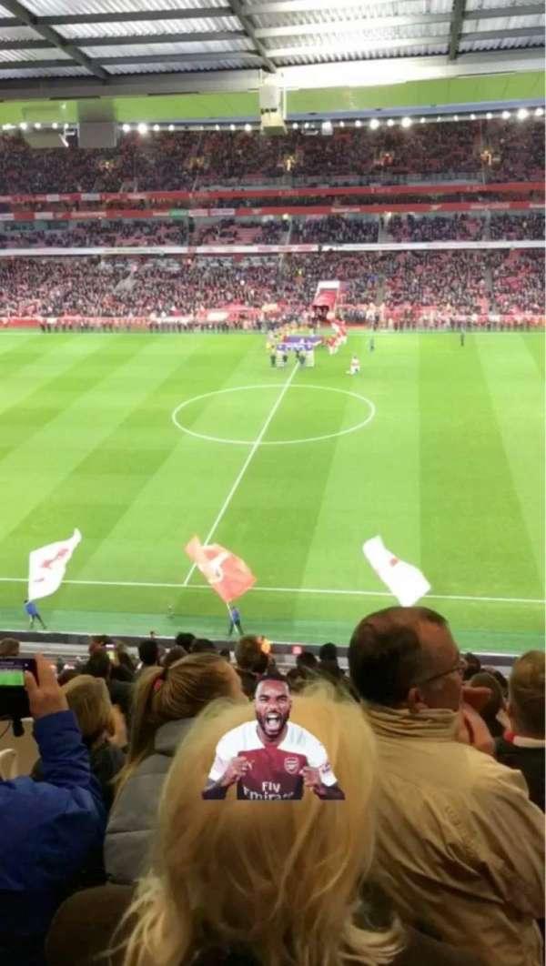Emirates Stadium, vak: 112, rij: 15, stoel: 584