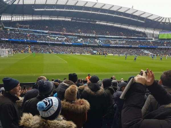 Etihad Stadium (Manchester), vak: 109, rij: L, stoel: 201