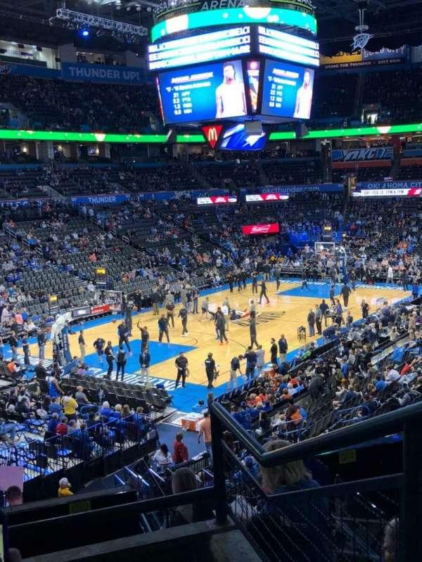 Chesapeake Energy Arena, vak: 227, rij: C, stoel: 10