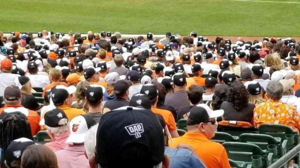 Oriole Park at Camden Yards, vak: 13, rij: 1, stoel: 16