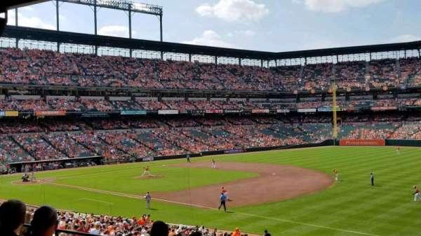 Oriole Park at Camden Yards, vak: 11, rij: 6, stoel: 23