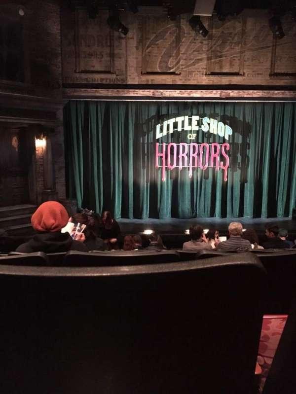 Westside Theatre, vak: Orchestra, rij: K, stoel: 110