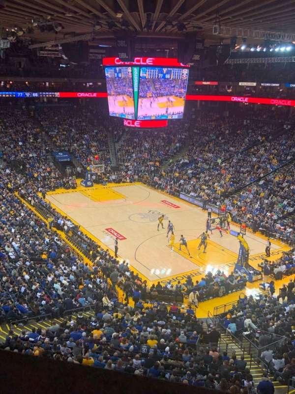 Oracle Arena, vak: 212, rij: 1, stoel: 3