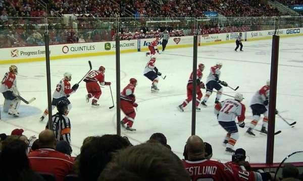PNC Arena, vak: 124, rij: J, stoel: 2