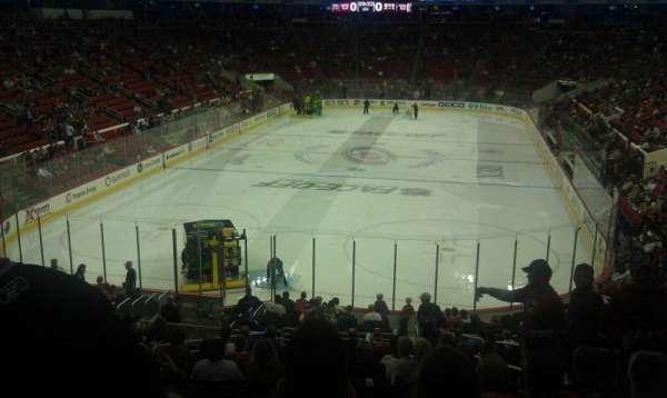 PNC Arena, vak: 111, rij: vv, stoel: 4