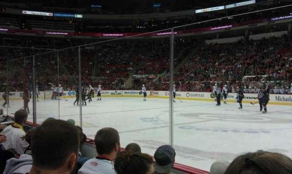 PNC Arena, vak: 118, rij: D, stoel: 3