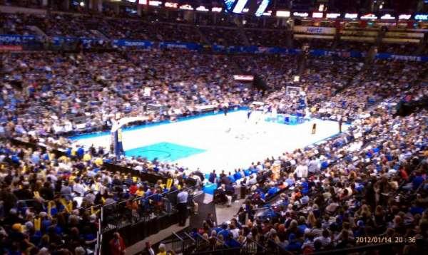 Chesapeake Energy Arena, vak: 227, rij: A