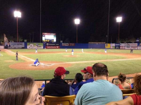 Cashman Field, vak: 14, rij: E, stoel: 1