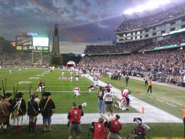 Gillette Stadium, vak: 119, rij: 4, stoel: 13