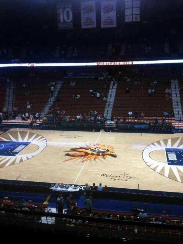 Mohegan Sun Arena, vak: 117, rij: E, stoel: 7