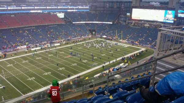 Gillette Stadium, vak: 338, rij: 7, stoel: 5