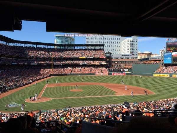 Oriole Park at Camden Yards, vak: 27, rij: 8, stoel: 8