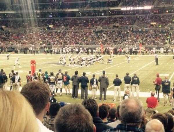 The Dome at America's Center, vak: 112, rij: K, stoel: 9