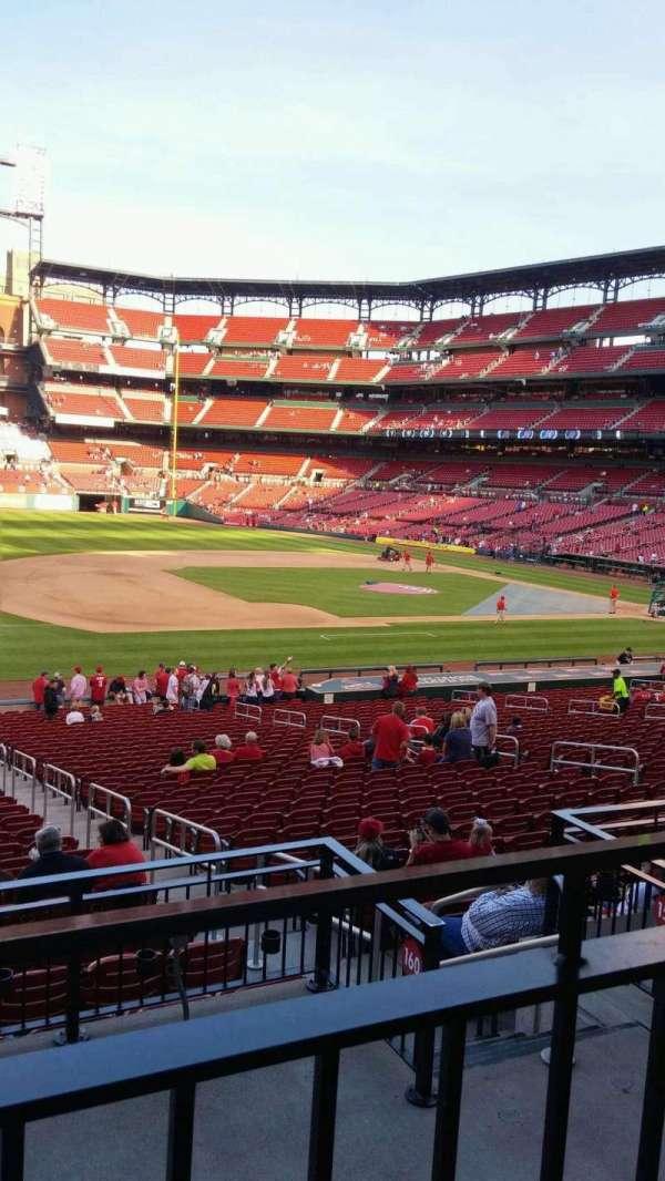 Busch Stadium, vak: 160, rij: 20, stoel: 8