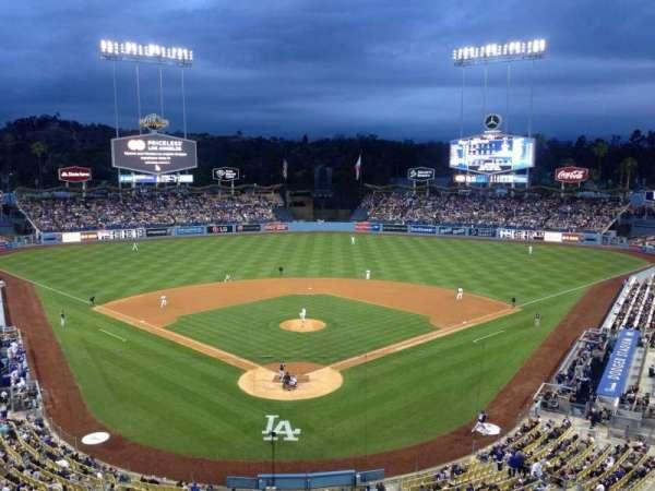 Dodger Stadium, vak: 1RS, rij: 1, stoel: 6