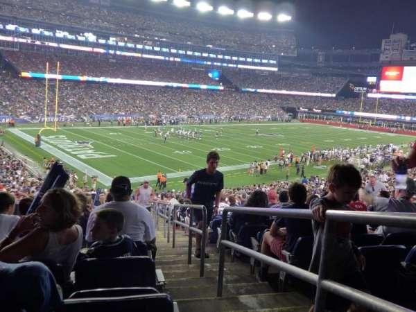 Gillette Stadium, vak: 138, rij: 36, stoel: 1