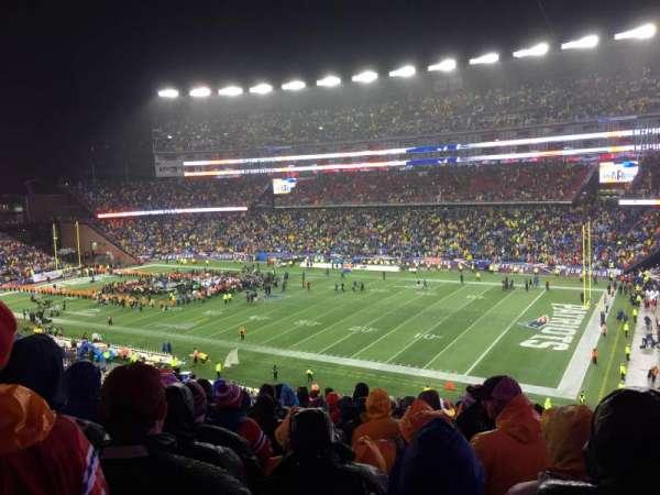 Gillette Stadium, vak: 227, rij: 21
