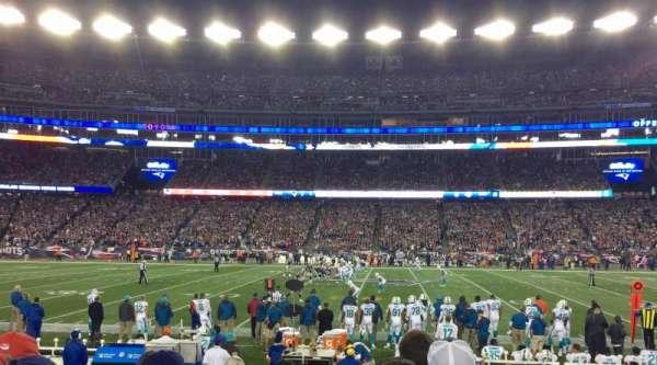 Gillette Stadium, vak: 131, rij: 7, stoel: 17